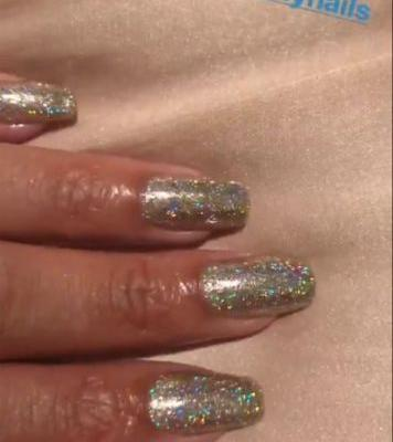 Rihanna Delivers Holiday Nail Inspo With a Glitter Manicure