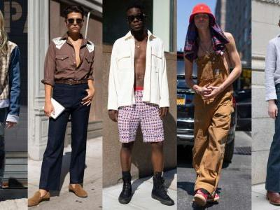 Shirts Were Optional Among the Street Style Crowd At New York Fashion Week: Men's