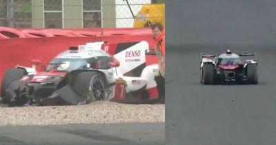 Heroic WEC Driver Drags Half Naked Toyota Back To The Pits