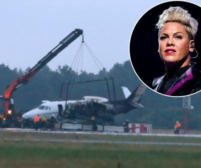Plane carrying Pink's crew crash-lands, erupts in flames in Denmark