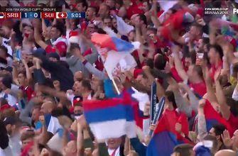 Watch Serbia head home an early goal for a 1-0 lead