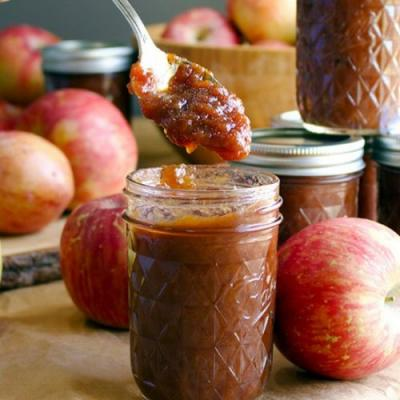 No Peel Slow Cooker Apple Butter