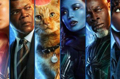 Captain Marvel Character Posters Kick Off 50 Day CountdownMarvel