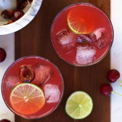 Sour Cherry Gin Limeade