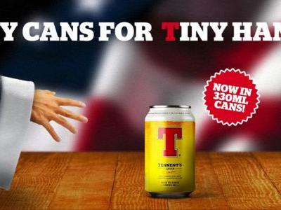 Scottish Beer Company Trolls Trump With 'Tiny Cans For Tiny Hands' Ad