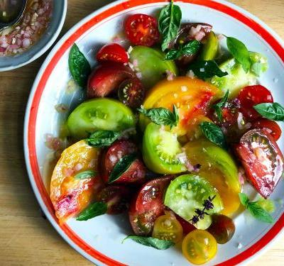 Heirloom and Cherry Tomato Salad