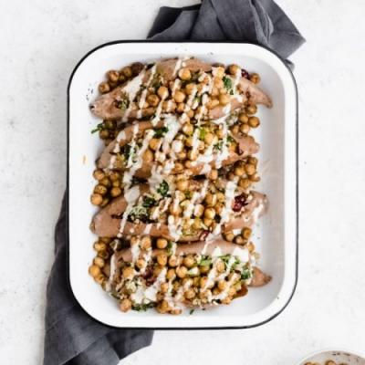 Mediterranean Quinoa Sweet Potatoes