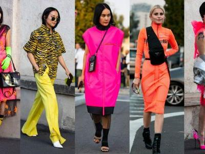 Ultra Bright Neon Was a Street Style Staple on Day 2 of Milan Fashion Week