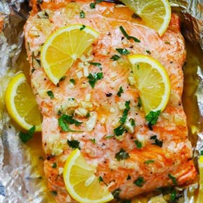 Honey Garlic Butter Salmon