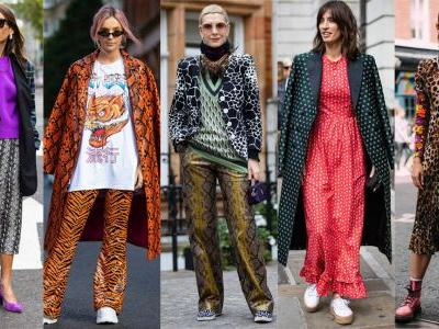 The Street Style Crowd Piled on Different Prints at London Fashion Week