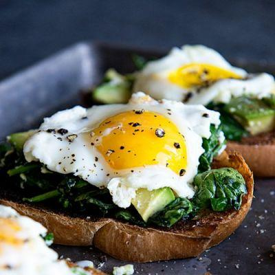 Eggs Florentine Avocado Toast
