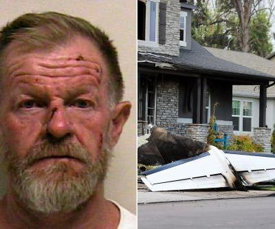 Man flies plane into home after assaulting wife: police