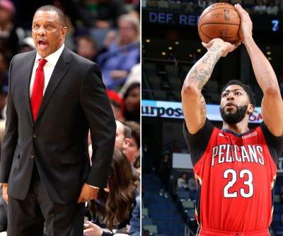 Alvin Gentry in no mood to talk about Anthony Davis' shoulder injury