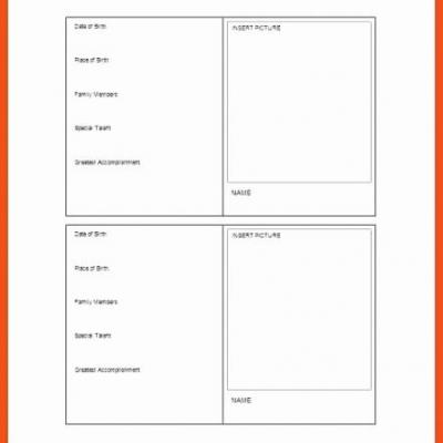 30 Unique Free Baseball Card Template Pictures