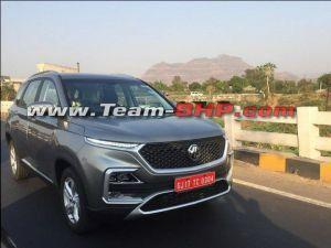 2019 MG Hector spied undisguised On Indian Roads