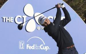 Piercy shoots 65 to lead by 1 at CJ Cup at Nine Bridges