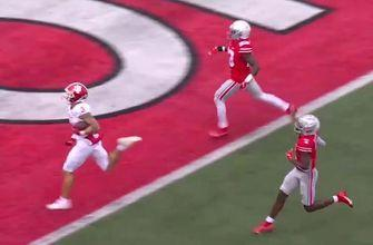 Ty Fryfogle explodes up field for TD, narrows gap with Ohio State 35-14