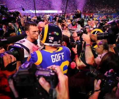 Super Bowl: Chaotic scrum almost ruins Tom Brady's postgame interview with CBS