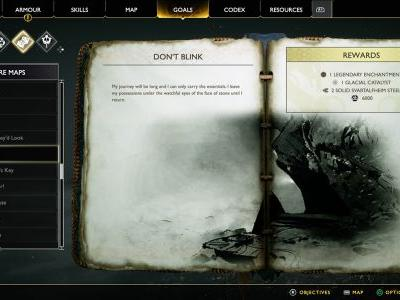 Don't Blink Treasure Map Location and Solution - God of War