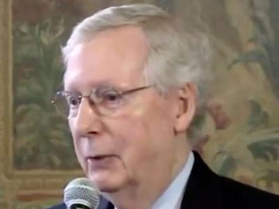 McConnell Says Senate GOP Not on Board With Trump Tariffs: We Hope 'That Doesn't Happen'