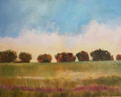 "Contemporary Landscape, ""Texas Evening,"" Amy Whitehouse"