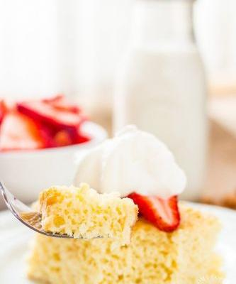 Strawberries and Tres Leches Cake