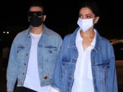 Deepika Padukone twins with Ranveer Singh in chic ensemble and Rs 2 lakh bag. All pics