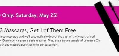 Nordstrom: Buy 3 Mascaras, Get 1 of Them Free