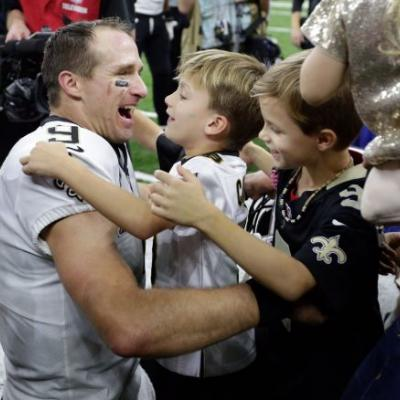 See the Hall of Fame display with Drew Brees uniform, ball from record night