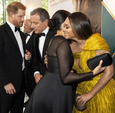Meghan & Beyonce Broke Royal Protocol At The 'Lion King' Premiere, According To Reports