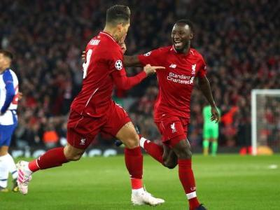 Liverpool tale upper hand over FC Porto with Keita, Firmino goals in UCL first leg