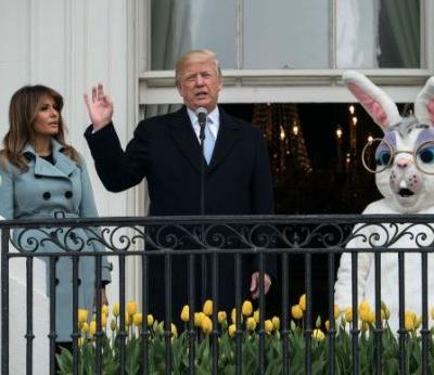 'The Democrats Have Really Let Them Down.' President Trump Brought Politics to the White House Easter Egg Roll