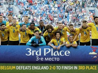 Belgium defeats England 2-0 for best World Cup finish ever