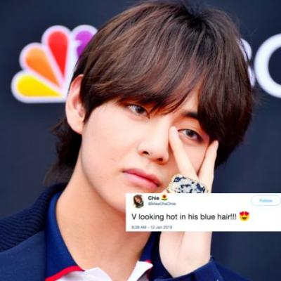 V From BTS' New Blue Hair In Nagoya Has Fans Completely Freaking Out