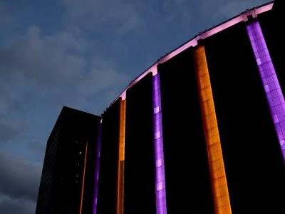 Madison Square Garden glows purple and gold to honor the late Kobe Bryant
