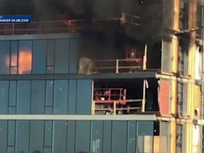 Fire starts on 25th floor of Boston high-rise