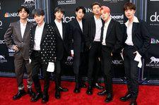 BTS Show Off Friendship Bracelets, Receive Top Social Artist Trophy On the 2019 BBMAs Red Carpet