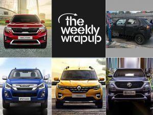 Kia Seltos Renault Triber Unveiled MG Hector Launch Date Isuzu D-Max V-Cross Facelift Launch Top 5 Car News