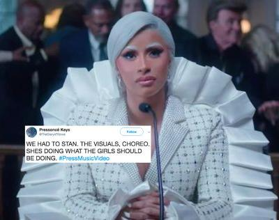 "15 Tweets About Cardi B's ""Press"" Music Video That Capture How Freaking Fierce It Is"