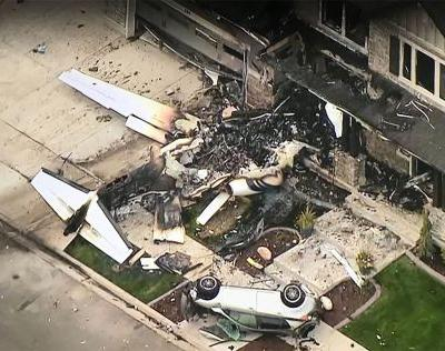 Man flies plane into his home after fight with wife, police say