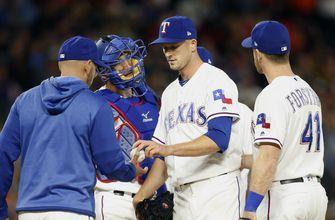 Drew Smyly strikes out eight, Rangers lose 7-2