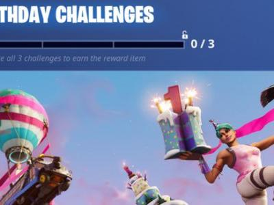 Fortnite's 1st Birthday Means Special Challenges and Sweet Rewards