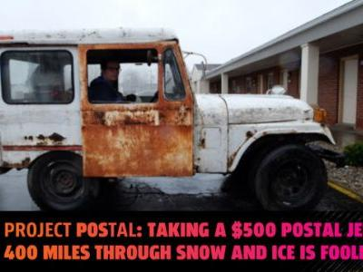 Watch Me Drive My $500 Postal Jeep On The Miserable First Leg Of A 3,500-Mile Journey To Utah