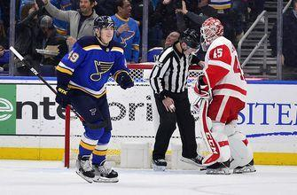 Barbashev's first hat trick lifts Blues to 5-2 win over Red Wings