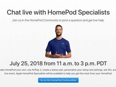 Apple specialists to hold live HomePod question and answer session next week