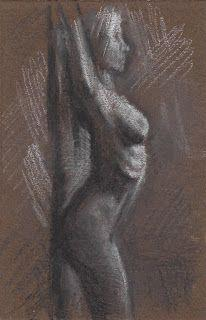 Female nude leaning against the wall