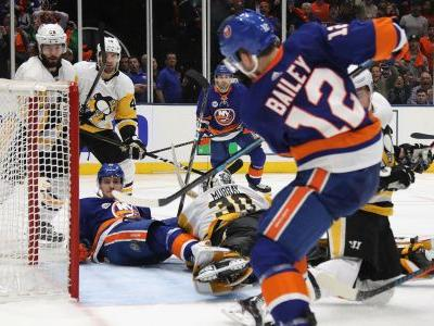 NHL playoffs 2019: Josh Bailey's OT goal pushes Islanders to Game 1 win over Penguins