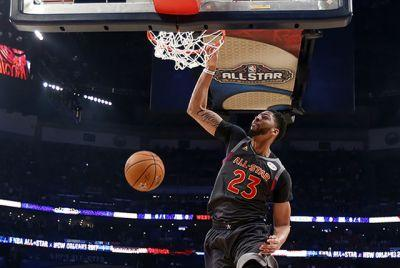 Anthony Davis scores 52, West beats East 192-182 in NBA All-Star Game