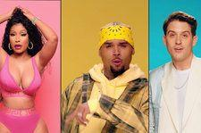 Chris Brown Throws a Twerk Party With Nicki Minaj & G-Eazy for New 'Wobble Up' Video: Watch