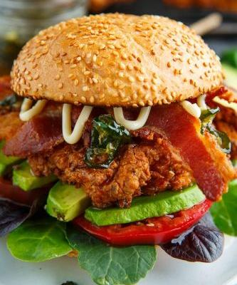 Jalapeno Honey Crispy Fried Chicken BLT